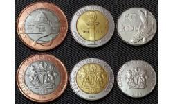 Набор из 3 монет Нигерии 50 кобо и 1,2 найры 2006 г. серия Современная Нигерия