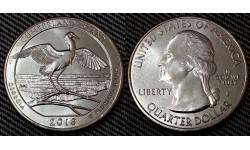 25 центов США 2018 г. Национальное побережье острова Камберленд, №44 двор D