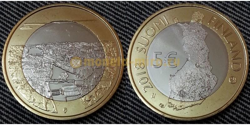 5 евро Финляндии 2018 г. морские ландшафты Хельсинки