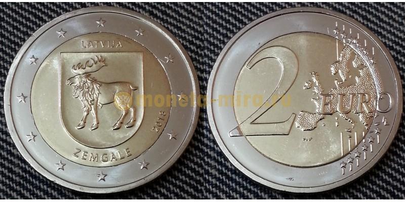2 евро Латвии 2018 год - Историческая область Земгале
