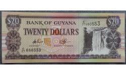 20 долларов Гайаны 1996 г. Водопад Кайетур на реке Потаро