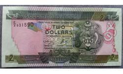 2 доллара Соломоновы Острова 2011 г.