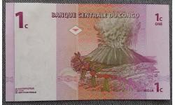 1 сентимо Конго 1997 г. Вулкан Ньирагонго