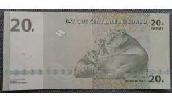 20 франков Конго 2003 г. Семейство львов