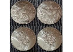25 рублей 2017 г. Три богатыря и Винни Пух, обычные. Набор из 2 монет