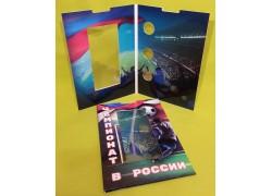 Капсульный альбом для трех 25 руб. монет и банкноты 100 руб. ЧМ 2018