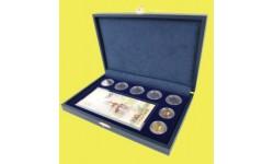 Футляр посвящённый Крыму для банкноты в чехле и 7 монет в капсулах, кож-зам