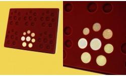 Планшет для наборов монет Евро, без капсул