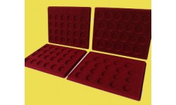 Набор из 4-х планшетов для 64 монет СССР, 6 монет Barcelona-92 и 19 монет Новоделы