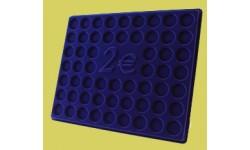 Планшет для хранения 57 монет 2 Евро, без капсул