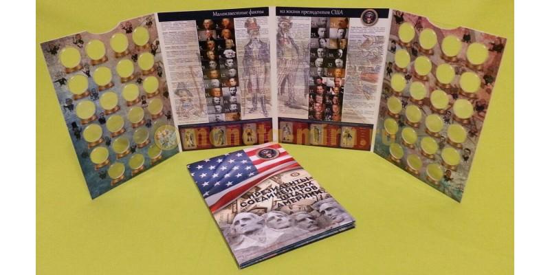 Альбом под 1 доллоровые монеты из серии Президенты США