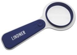 Лупа Lindner со светодиодной подсветкой и 5-кратным увеличением