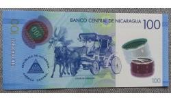 100 кордоб Никарагуа 2014 г. полимер-пластик