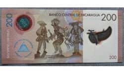200 кордоб Никарагуа 2014 г. полимер-пластик