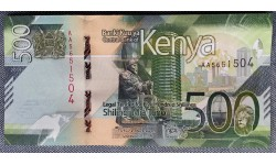 500 шиллингов Кении 2019 г. Лев