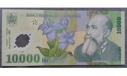 10000 лей Румынии 2000 г. писатель и политик Николае Йорга, полимер-пластик