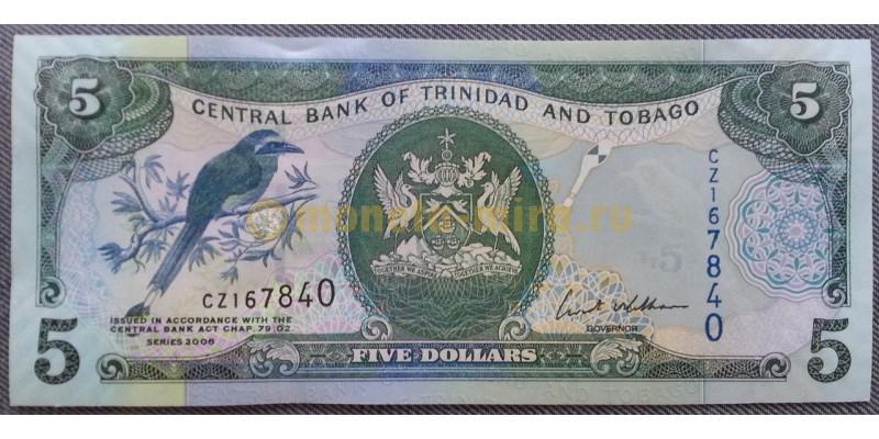 5 долларов Тринидад и Тобаго 2006 г.