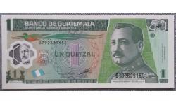 1 кетсаль Гватемалы 2012 г. Генерал Хосе Мария Орельяна, полимер-пластик