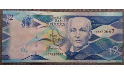 2 доллара Барбадоса 2013 г. Мельница Моргана Льюиса