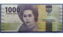1000 рупий Индонезии 2016 г.