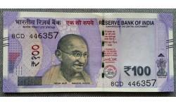 100 рупий Индии 2018 г.