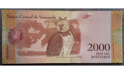 2000 боливаров Венесуэлы 2016 г. Орел Гарпия