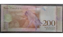 200 боливаров Венесуэлы 2018 г. Попугай