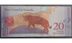 20 боливаров Венесуэлы 2018 г. Ягуар