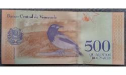 500 боливаров Венесуэлы 2018 г. Ворона