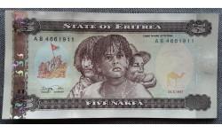 5 накф Эритреи 1997 г. Палисандровое дерево