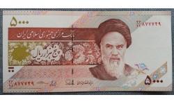 5000 риалов Ирана 2013 г. Древние росписные чаша и тарелка