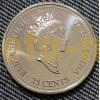 Набор из двенадцати 25-центовых монет Канады серия: Миллениум