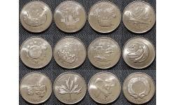 Набор из 12 монет Канады 25 центов  2000 г. серия миллениум