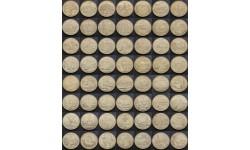 Набор из 56 монет США 1999 г. 25 центов - штаты и территории