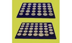 Набор из 2 планшетов для хранения 64 памятных монет СССР, без капсул