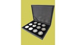 Футляры из искусственной кожи для различных монет в капсулах