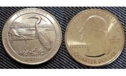 25 центов США 2015 г. Национальный парк Бомбей Хук, №29 двор D