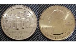 25 центов США 2016 г. Национальный парк Харперс Ферри, №33 двор D