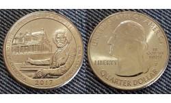 25 центов США 2017 г. Национальное историческое место Фредерика Дугласа, №37 двор D