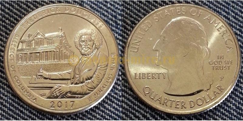 25 центов США национальное историческое место Фредерика Дугласа