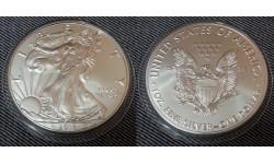 1 доллар США 2018 г. Шагающая свобода, в капсуле - серебро 999 пр.