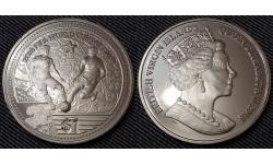 1 доллар 2018 г. Виргинские острова - Чемпионат Мира в России