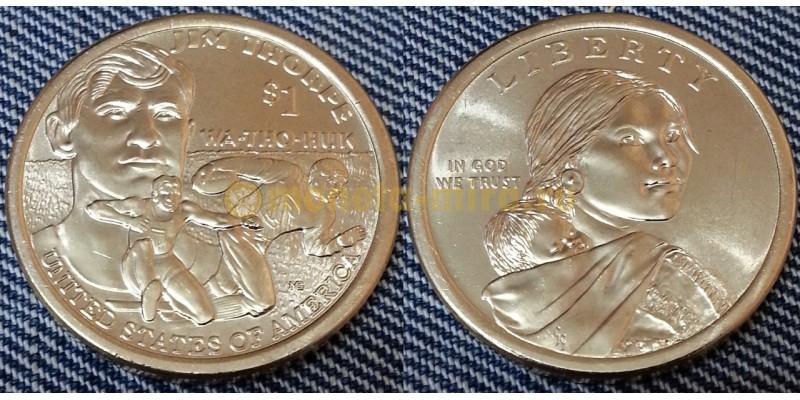 1 доллар США 2018 - Джим Торп, серия Сакагавея двор P