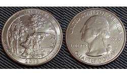 25 центов США 2018 г. Живописные скалы, №41 двор D