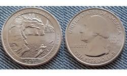 25 центов США 2018 г. Национальные озёрные побережья островов Апостол, №42 двор D