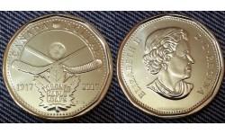 1 доллар Канады 2017 г. 100 лет хоккейному клубу Toronto Maple Leafs
