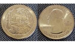 25 центов США 2017 г. Национальный парк Озарк, №38 двор D