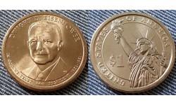 1 доллар США 2015 г. Дуайт Эйзенхауэр, 34 президент