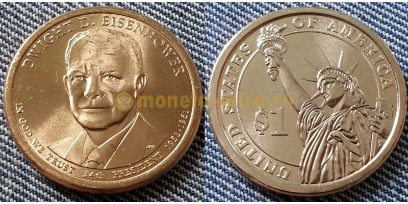 1 доллар США серия: Президенты - Дуайт Эйзенхауэр