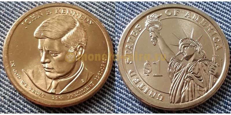 1 доллар США серия: Президенты - Джон Кеннеди